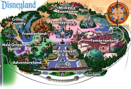 Disneyland's Map