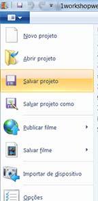 Salvar Projeto para editar posteriormente