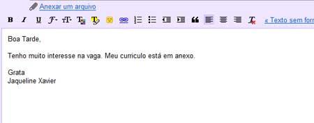 escrever um email formal