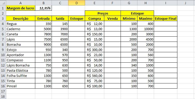 Controle De Estoque No Excel 2010 Blog De Inform 225 Tica