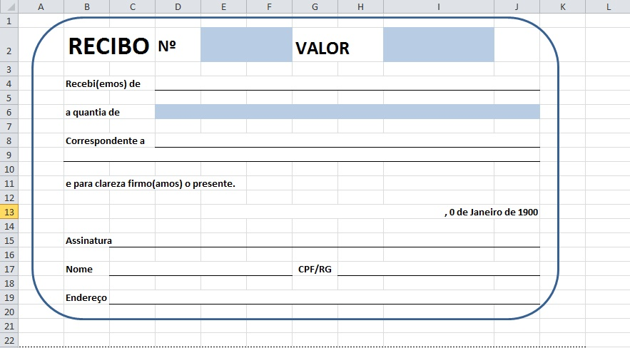 Como criar recibo no excel 2010 blog de inform tica for Nomina en excel xls