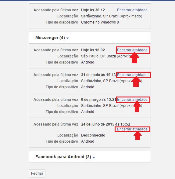 conectado facebook messenger