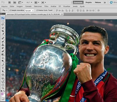 imagem aberta no Photoshop