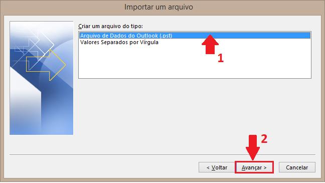 Arquivo de Dados do Outlook (.pst)