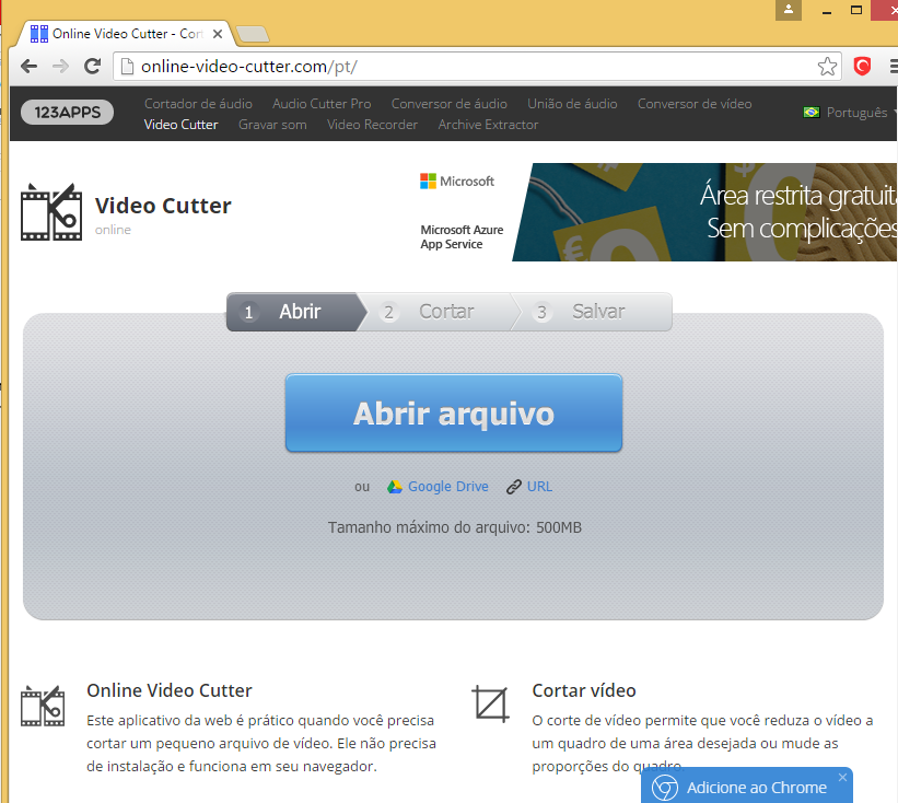 site cortar video